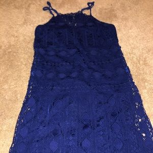 NWT straight style dress with lace never worn